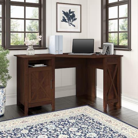 Key West 54W Corner Computer Desk with Storage by Bush Furniture