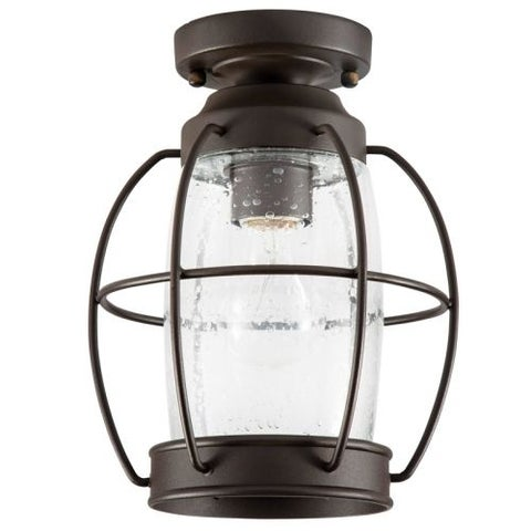 "Park Harbor PHEL2904 West Rock 8"" Wide Single Light Flush Mount Outdoor Ceiling Fixture"