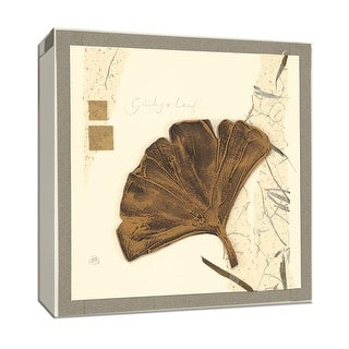 """PTM Images 9-153460  PTM Canvas Collection 12"""" x 12"""" - """"Ginkgo Leaf"""" Giclee Ginkgo Art Print on Canvas"""