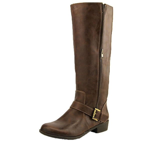 NaturalSoul Women Vicker Bark Tall Riding Boots - bark smooth - 6 b(m) us
