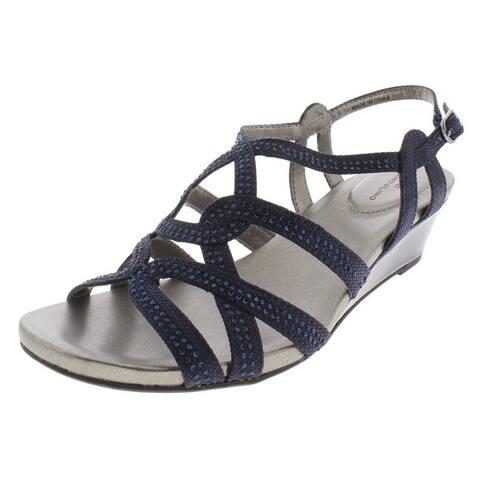 Bandolino Womens Galtelli Evening Sandals Rhinestone Wedge