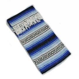 Sunnydaze Premium Mexican Beach Yoga Blanket, 82 Inch Long x 59 Inch Wide