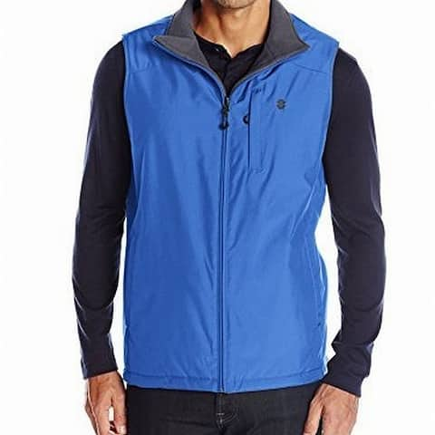 IZOD Mens Jackets Blue Size Small S Reversible Water-Resistant Vest