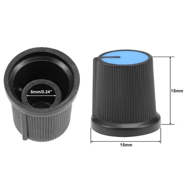 Plastic Potentiometer Sound Control Cap Knurled Shaft Hole Amplifier Knob Volume