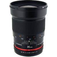 Rokinon 35mm f/1.4 Wide-Angle US UMC Aspherical Lens for Olympus 4/3 - Black