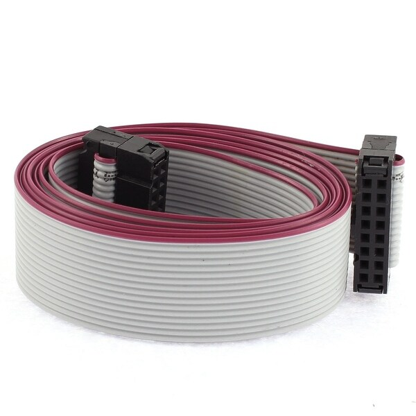 2.54mm Pitch 2 x 8 Pin 16 Pin 16 Wire IDC Flat Ribbon Cable 100cm Length