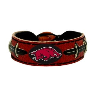 Arkansas Razorbacks Team Color NCAA Gamewear Leather Football Bracelet