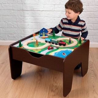 KidKraft: 2 in 1 Activity Table - Espresso