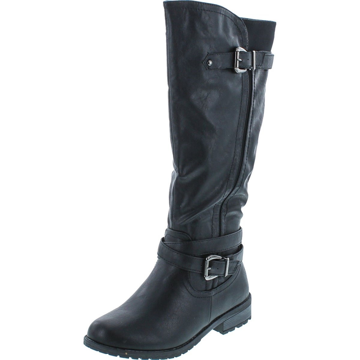 great variety styles for sale los angeles Forever Mango-24 Women's Shaft Side Zipper Knee High Flat Riding Boots