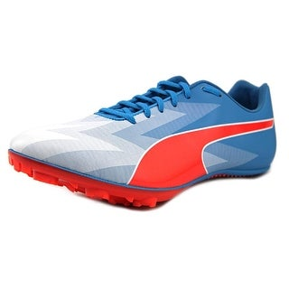 Puma EvoSpeed Sprint V6 Men Round Toe Synthetic Blue Cleats
