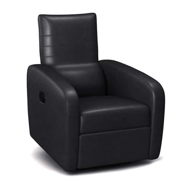 Costway Manual Recliner Chair Contemporary Foldable Back Leather Overstock 20708456