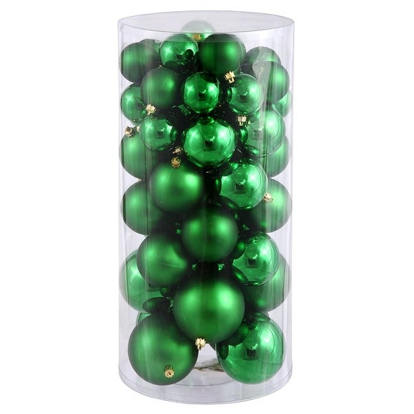 Christmas at Winterland WL-ORNTUBE-60-GR 1.5-Inch Plastic Shatterproof Green Ball Ornaments (Package of 100) - N/A