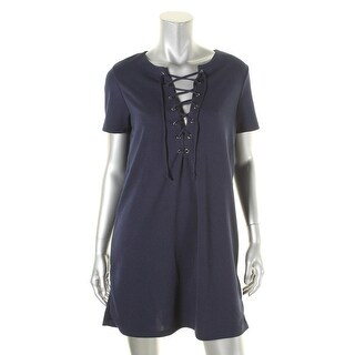 Romeo & Juliet Couture Womens Casual Dress Textured Lace-Up - m