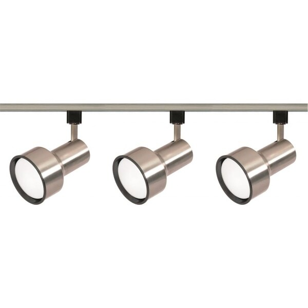 Nuvo Lighting TK340 Three Light R30 Step Cylinder Track Kit - Brushed nickel