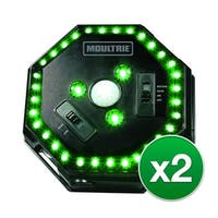 Moultrie MFA-12651 Feeder Hog Light with 30 Feet Illumination Radius & Green LED Lights - (2-Pack)