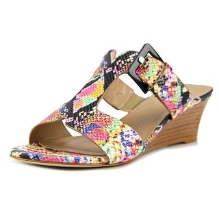 Vaneli Vanya Women  Open Toe Synthetic Multi Color Wedge Sandal