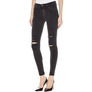 Hudson Womens Nico Skinny Jeans Mid-Rise Destroyed