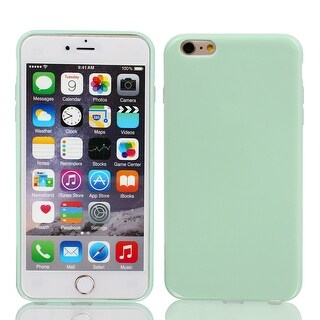 Film + Soft Silicone Case Cover Light Green for Apple iPhone 6 Plus 5.5