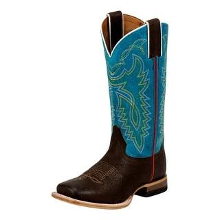 Justin Western Boots Boys Kids Walking Heel Wide Square Toe 343JR