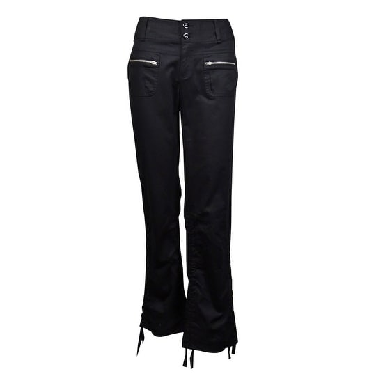 87d876a959 Shop INC International Concepts Women's Cropped Utility Pants - Deep Black  - On Sale - Free Shipping On Orders Over $45 - Overstock - 14725863