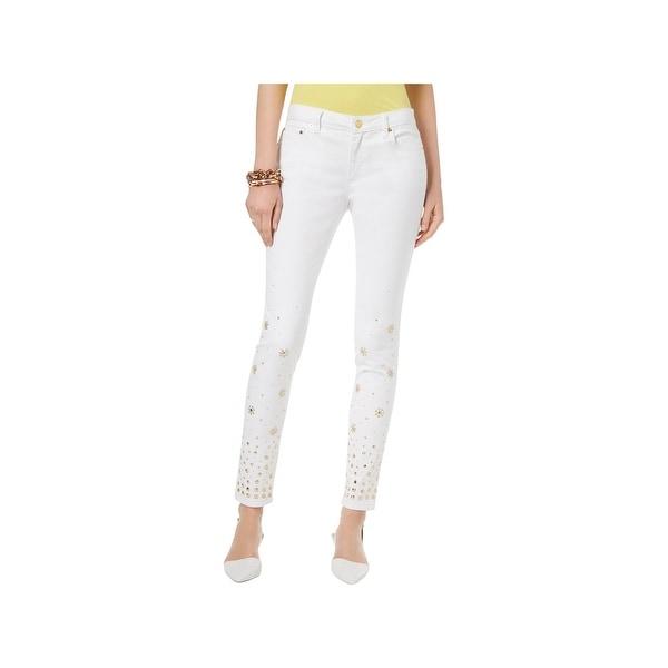 d884a52373e8 MICHAEL Michael Kors Womens Selma Skinny Jeans Embellished High Rise - 16P