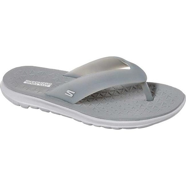 87a7c97cf811 Skechers Women  x27 s On the GO Nextwave Ultra Tropicz Thong Sandal Gray