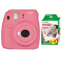 Fujifilm Instax Mini 9 (Flamingo Pink) w/Color Film (2-Pack)