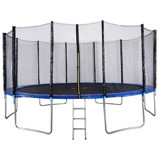 Gymax 16FT Trampoline Combo Bounce Jump Safety Enclosure Net - as pic