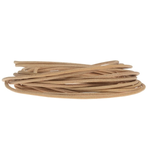 Genuine Leather Cord, Round 1.5mm, By the Yard, Natural