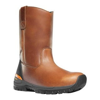 "Danner Men's Stronghold 10"" Non-Metallic Wellington Boot Brown Full Grain Leather"