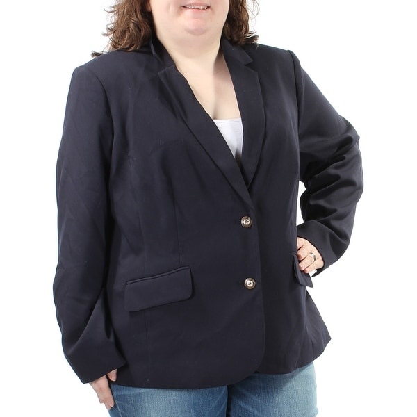 62fca238068 Shop CHARTER CLUB  139 Womens New 1453 Navy Blazer Wear To Work Jacket 22W  Plus B+B - Free Shipping On Orders Over  45 - Overstock.com - 21351779