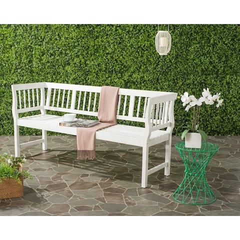 "SAFAVIEH Brentwood Outdoor Antique/ White Bench - 68.1"" x 20.1"" x 31.5"""