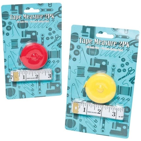 """Good Old Values G20441 Sewing Tape Measure, Assorted Color, 2"""" W x 60"""" L"""