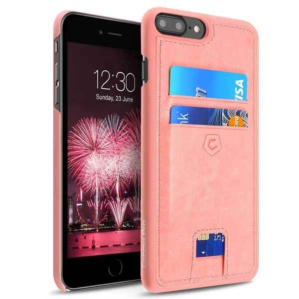 CobblePro Pink Leather with Wallet Flap Pouch For Apple iPhone 7 Plus