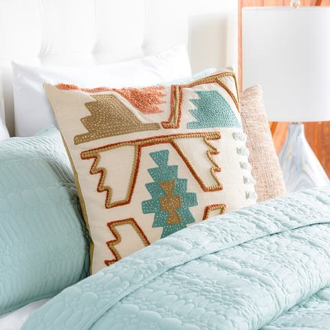 Esso Southwestern Embroidered Throw Pillow