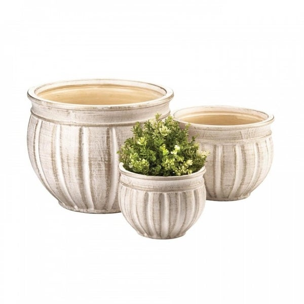 Grecian Ceramic Planter Trio