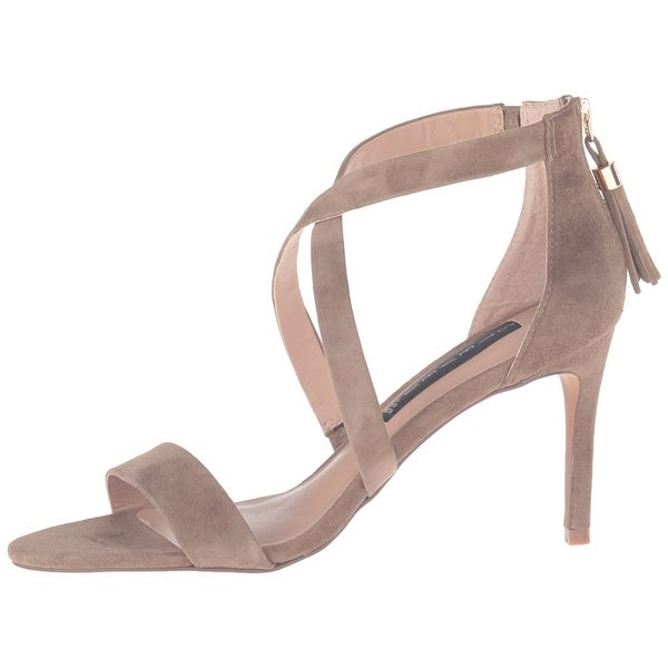 STEVEN by Steve Madden Womens Nahlah Open Toe Bridal, TAUPE SUEDE, Size 8.0
