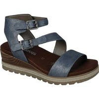 Remonte Women's Icess 51 Ankle Strap Sandal Denim Synthetic