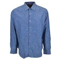 Robert Graham CREEDANCE Starburst Blue Button Down Sports Dress Shirt