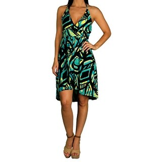 Apple Bottoms Junior Printed Halter Dress