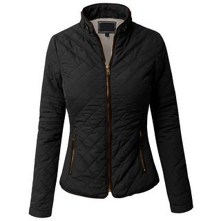 NE PEOPLE Womens Lightweight Wool Lined Quilted Zip Jacket