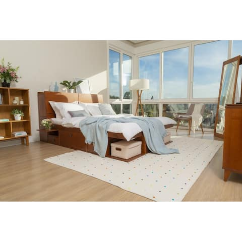 Copper Grove Rivne Storage Platform Bed with Drawers