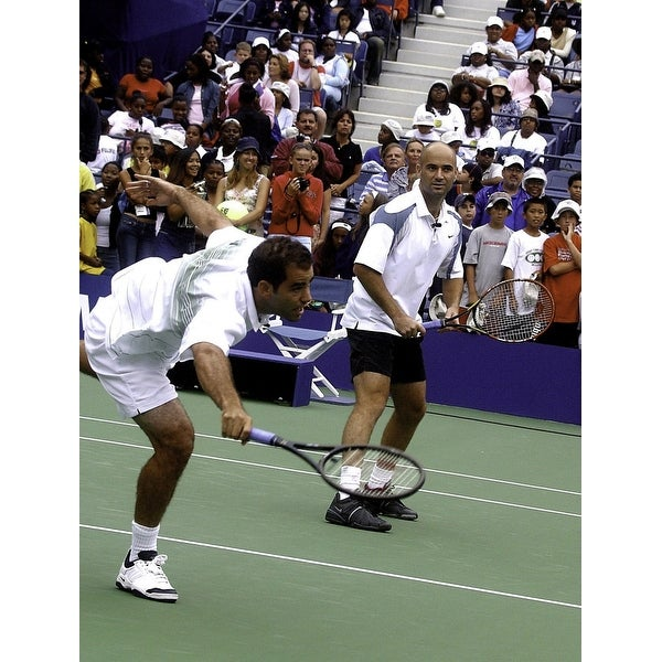 634544ef359a Shop Pete Sampras and Andre Agassi at the US Open Photo Print - Free ...