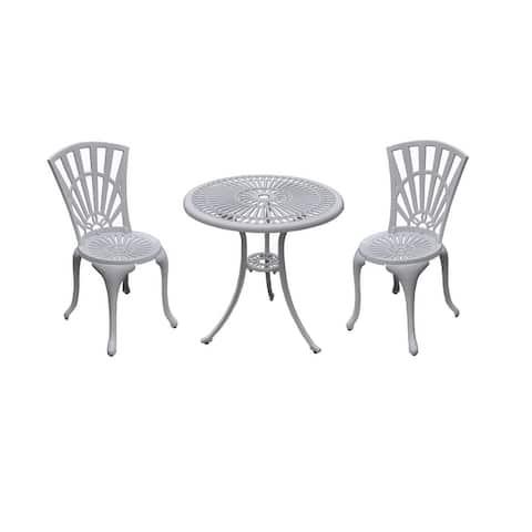 "Sunshine 3-Pc Bistro Set - Chairs: 18.9""Wx17.7""Dx33.2""H"