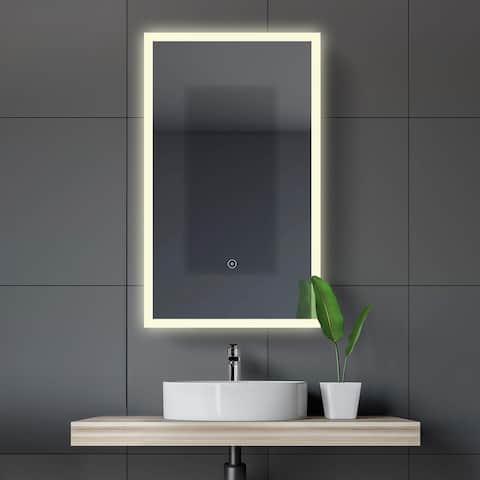 Mirrored Aluminum Bathroom Medicine Cabinet with LED lights