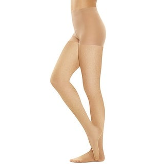 Hanes Perfect Nudes Sheer Micro Net Girl Short Tummy Control Hosiery - Size - 5/6X - Color - Buff/Nude 2