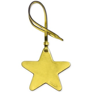 COACH Metallic Leather Star Ornament Purse Charm Metallic Lemon - One size