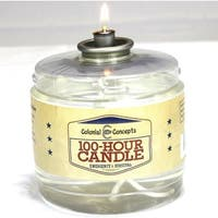 100 Hour Smokeless Liquid Paraffin Emergency Survival Candle by Colonial Concept