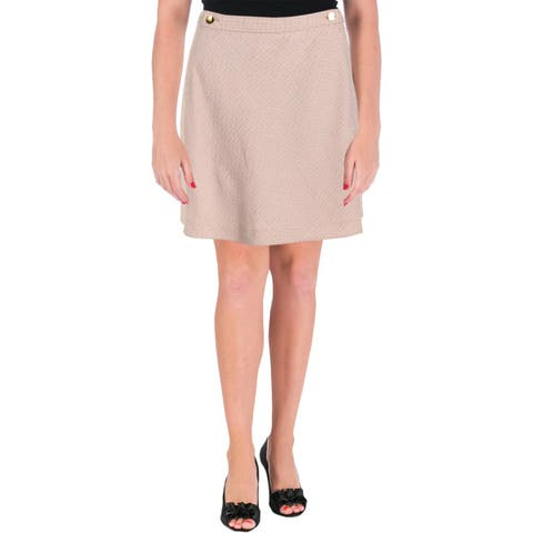 Kate Spade Womens A-Line Skirt Tweed Military
