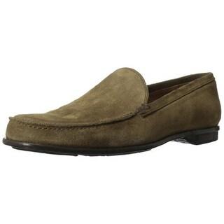 John Varvatos Mens Two 24 Venetian Suede Slip On Loafers - 8 medium (d)